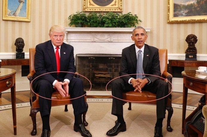 专家分析川普奥巴马会面 两人手势藏玄机?