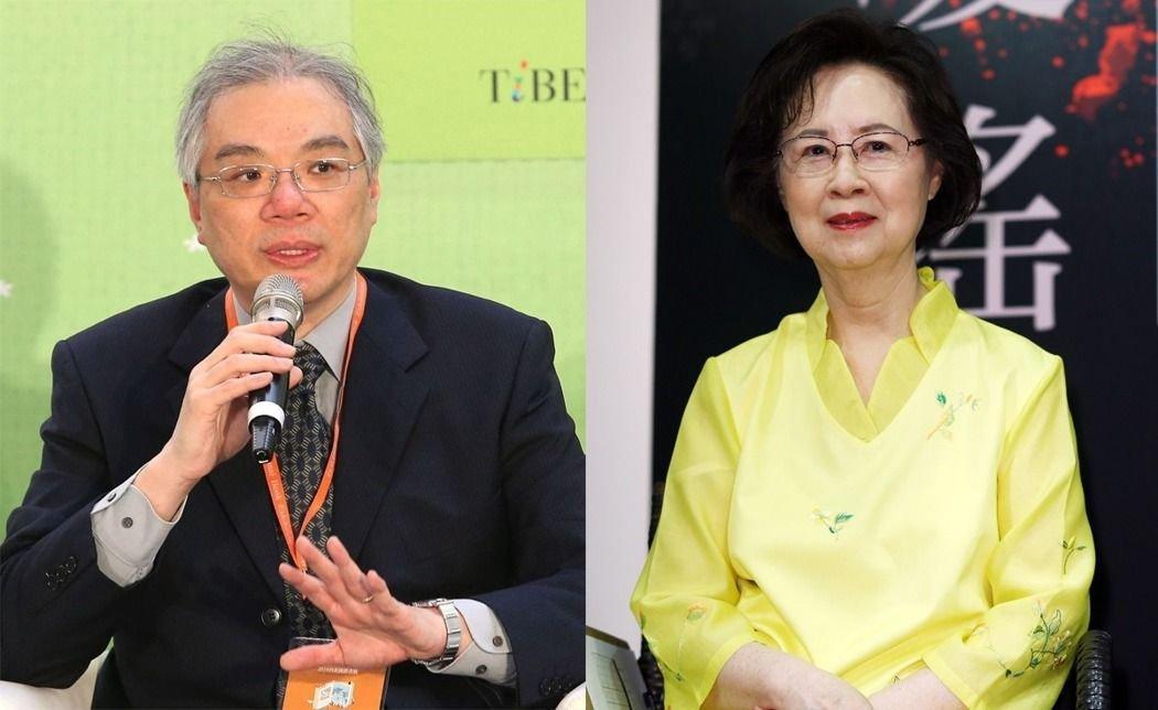 """皇冠出版社社长平云(左)表示,双方""""无所谓的拥抱和解"""",并从未质疑琼瑶对父亲的感情,只是对照护看法分歧。"""