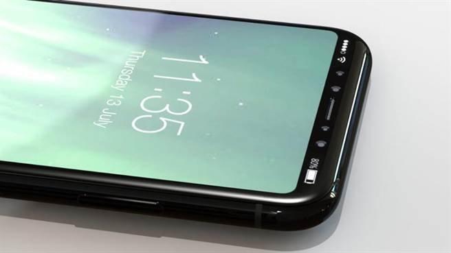 《Forbes》曝光iPhone 8渲染图,萤幕上方没有「瀏海」设计。