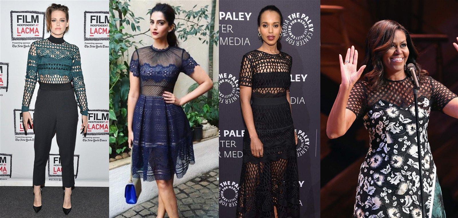 克莉丝汀史都华、宝莱坞女神索南卡普尔(Sonam Kapoor)、米歇尔奥巴马、 梅根马克尔等名人, 都是 Self-Portrait的忠实粉丝。