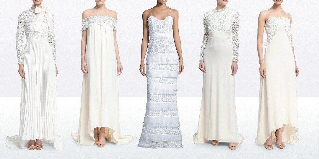 """除了洋装,Self-Portrait也推出婚纱,这正好符合现今许多 新娘买件白色小洋装就结婚去的趋势,张瀚伦指:""""很多顾客选 择穿我们已推出的裙装当她们的结婚礼服,我喜欢这种轻松、没有 负担的选择婚纱方式,因此,开始设计婚裙的胶囊系列(Capsule Collection)是一个自然而然的过程,现已累积了11种款式。"""" *胶囊系列:特定系列,以不过时的经典款为主"""