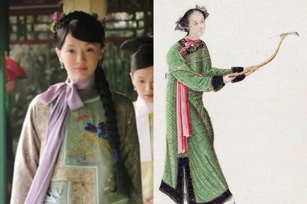 周迅身上的蝴蝶结也被吐槽,但网民翻出照片指造型确实是有历史依据的。