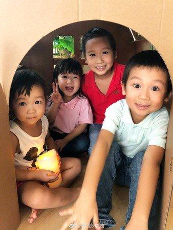 陈浩民的3女1子。