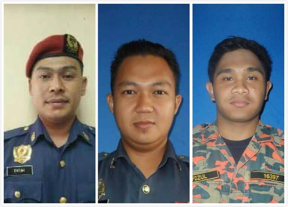 左起:死者莫哈末法达(34岁)、死者安南奥马(33岁)、死者莫哈末希菲祖(25岁)