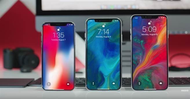 5.8吋iPhone X与6.1吋、6.5吋新iPhone模型机对比