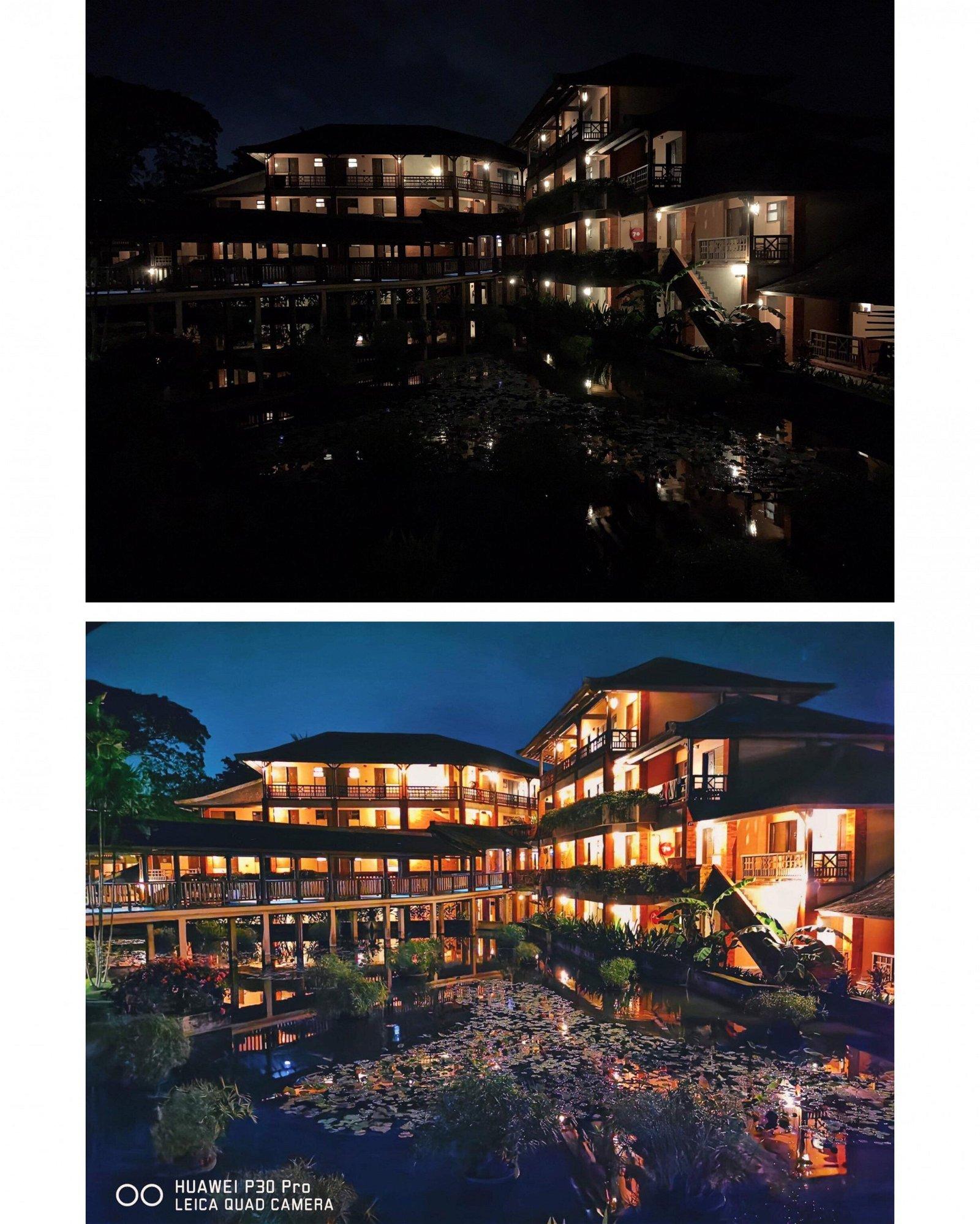上图为一般手机的夜景拍摄画质,下图则为华为P30 Pro在晚上9时,天空非常暗的环境下,使用华为P30 Pro的普通模式,拍出的超清晰照片。Photo by smashpop