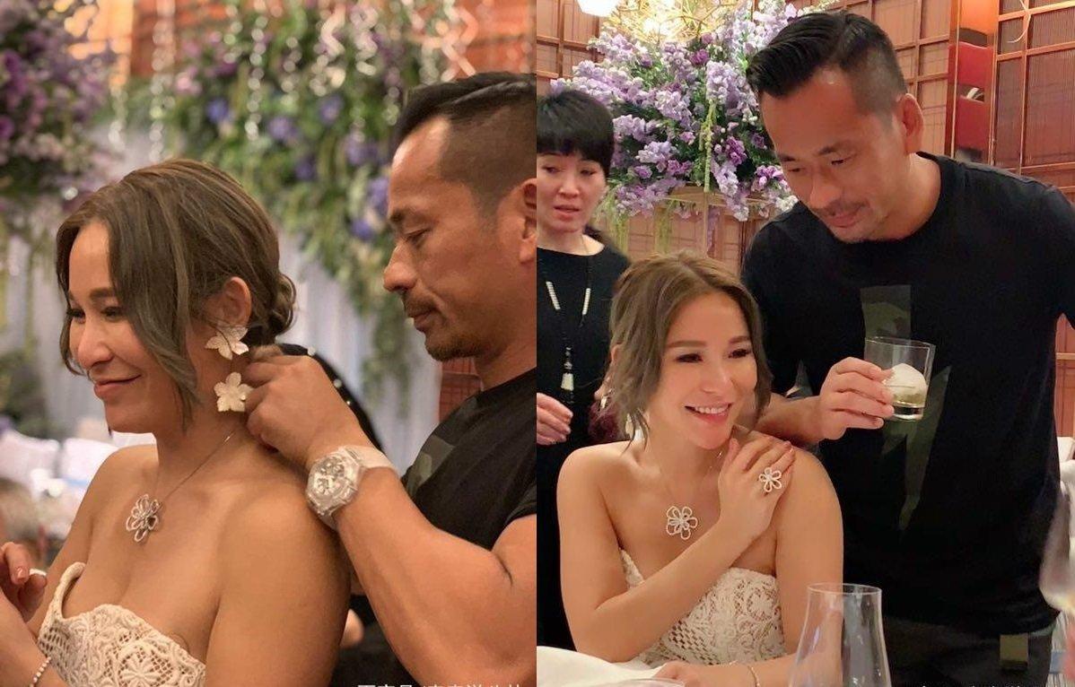 陈慧玲之前38岁生日,获洗米华赠送钻石。