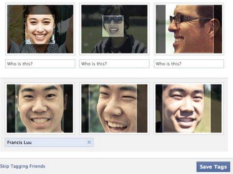 """面子书此前在用户上载照片提供""""标签建议""""功能,通过面部识别技术来建议标记照片中的用户。"""