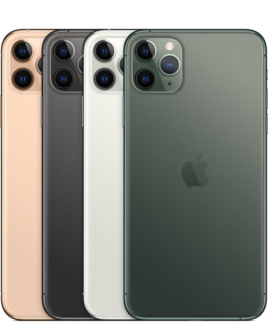 5.8吋的iPhone 11 Pro与6.5吋的iPhone Pro Max,配有三镜头。