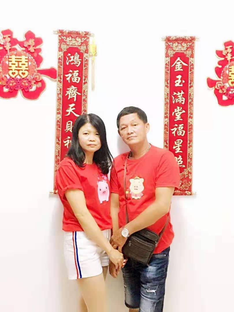 在陈永光未发生车祸前,与妻子黄慧萍形影不离。