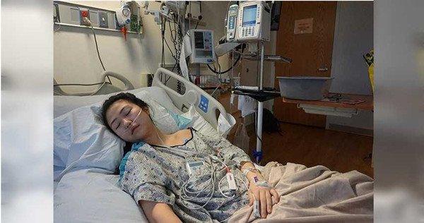 克莱尔上载卧在病榻照,忠告人们勿吸食电子烟。