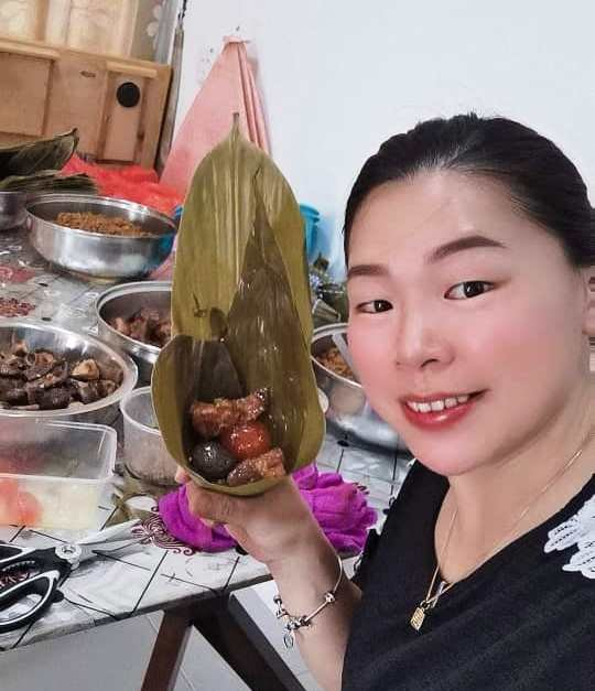 网卖粽子业者蔡燕芳。