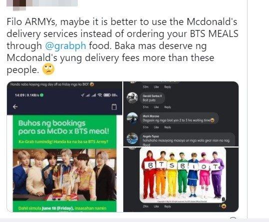 粉丝在推特上呼吁粉丝选择用别的平台来购买BTS套餐。