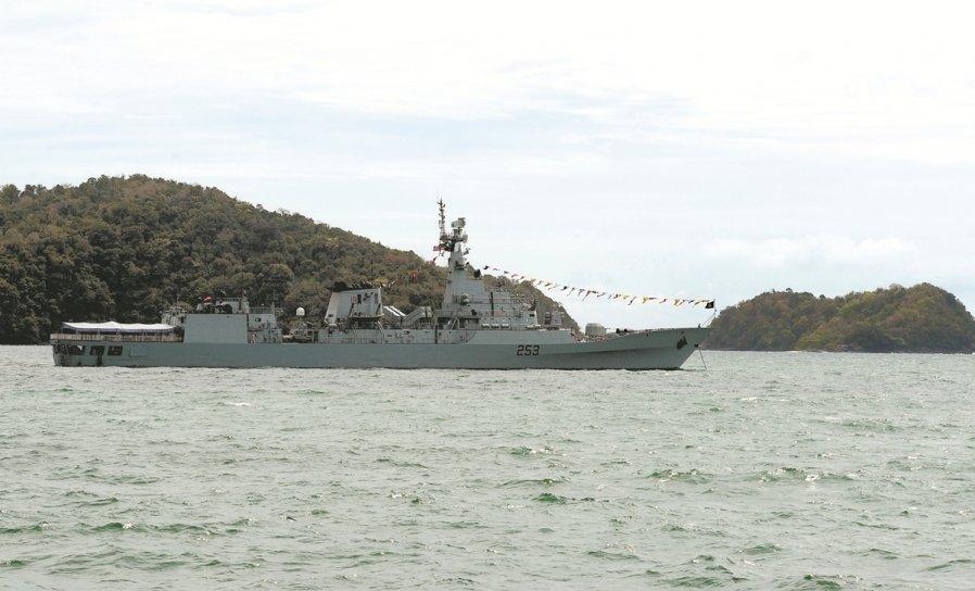 土耳其作为海空展的参展国之一,该国也将海军军舰驶入浮罗交怡海领域参展。