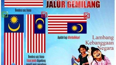 近期国旗倒挂问题不断发生,国家安全理事会也提供了国旗的相关资讯,以便让国人更了解我国国旗。