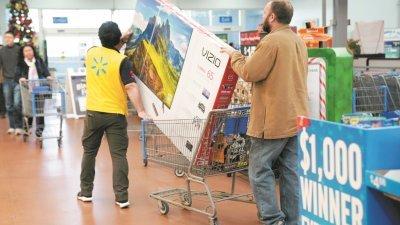 调查显示美国假日购物季期间,购物者平均支出361.90美元,相较去年增加16%。