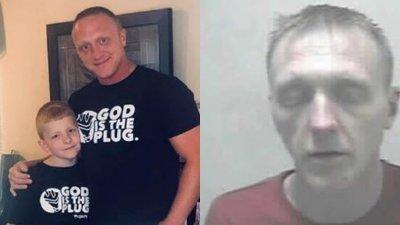 Jason Wickline戒毒成功后(左)与当时吸毒品(右)身形相差甚远。(图/Jason Wickline面子书)