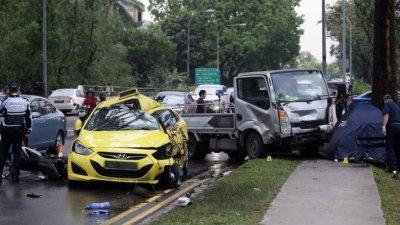 这场致命车祸发生在双溪加株道一带。