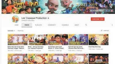本地知名动画Upin & Ipin因贴近本地生活化及浅白易懂的内容吸引各年龄层的用户收看,如今该频道拥有590万订阅数的高人气。