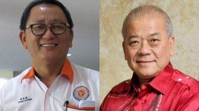 锺来福(左)已表态在华总改选攻顶,他或将面对吴添泉(右)的挑战。