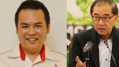 马汉顺(右)指马华已正式入禀法庭,起诉张哲敏诽谤。