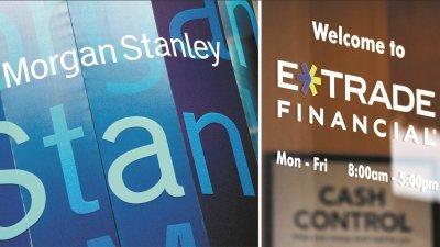 摩根史丹利斥资545亿收购线上交易平台ETrade。