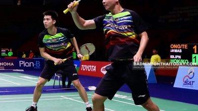 3周前被羽总开除的男双王耀新(左起)与张御宇,将于大年初二亮相泰国精英赛决赛,放眼为大马夺得新年首冠!(图取自badmintonthaitoday)