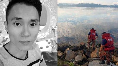 来自拉庆消拯局的搜救人员于周日早上发现死者遗体漂浮在其落水附近的海面上。(图由柔消拯局提供)