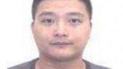 """巴生警方目前正在通缉绰号""""Nick Lim""""的华裔男子。"""